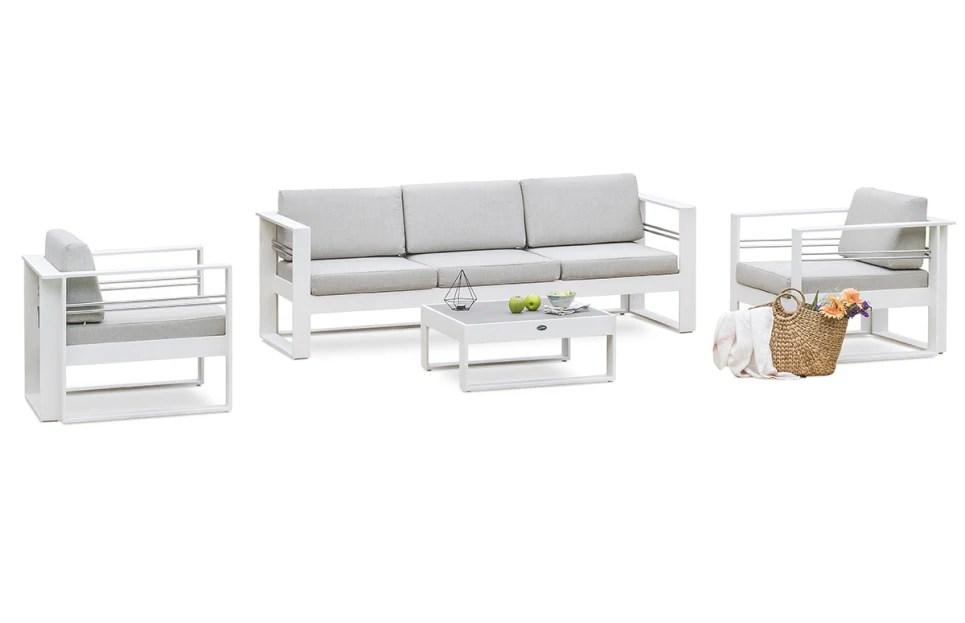 salon de jardin aluminium blanc haut de gamme marbella delorm design
