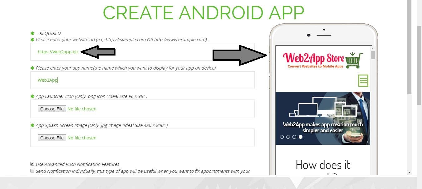 web2app - web to app builder