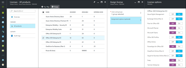 Azure AD Group-based License Management for Office 365 Public Preview
