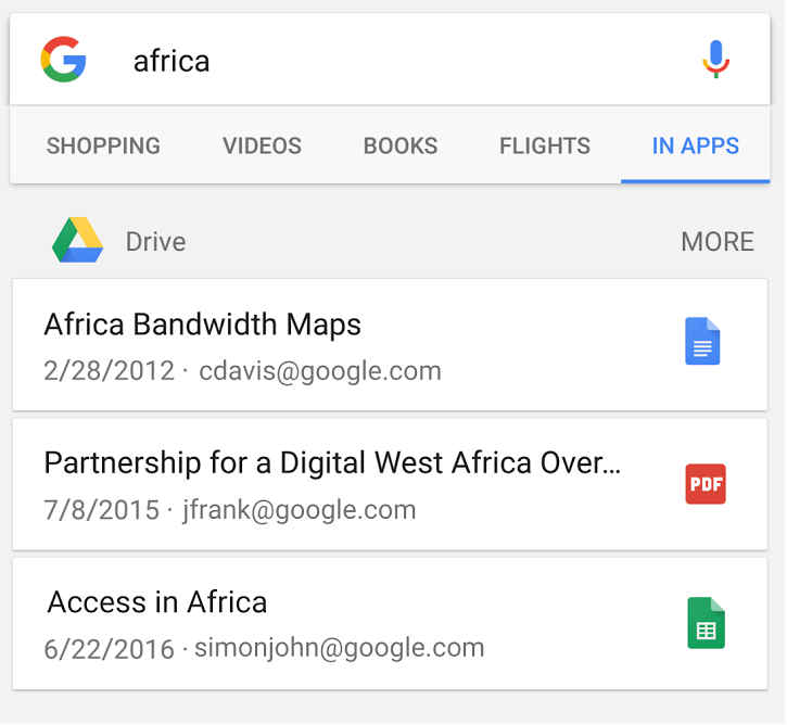 Search Google Drive Files and Folders