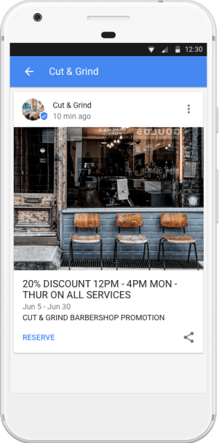 Google Posts for My Business