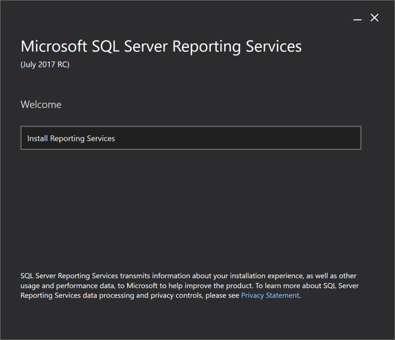 Microsoft SQL Server 2017 Reporting Services