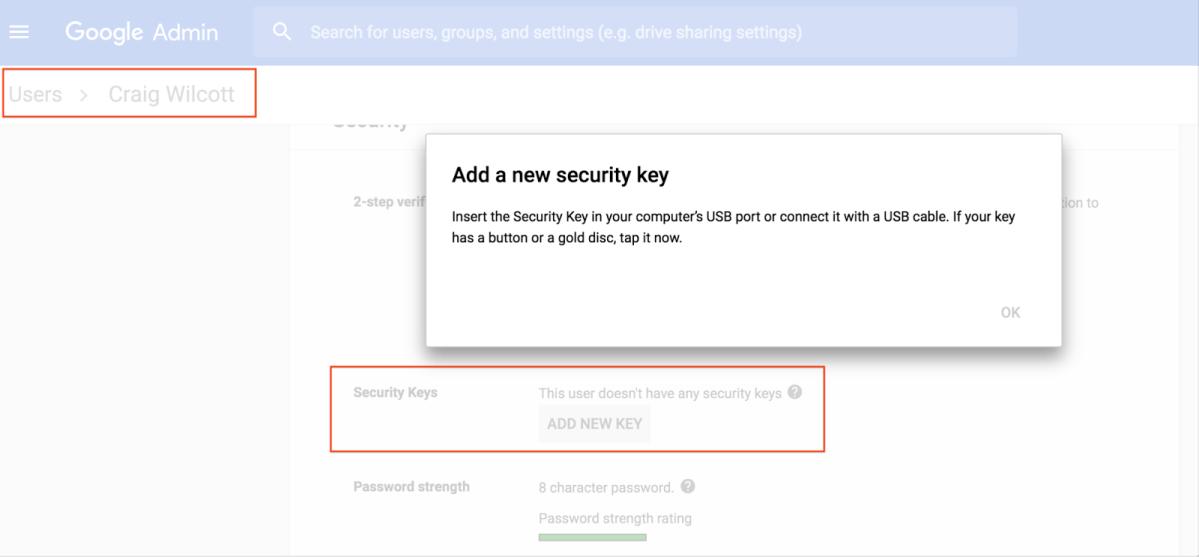 G Suite Admin led security control