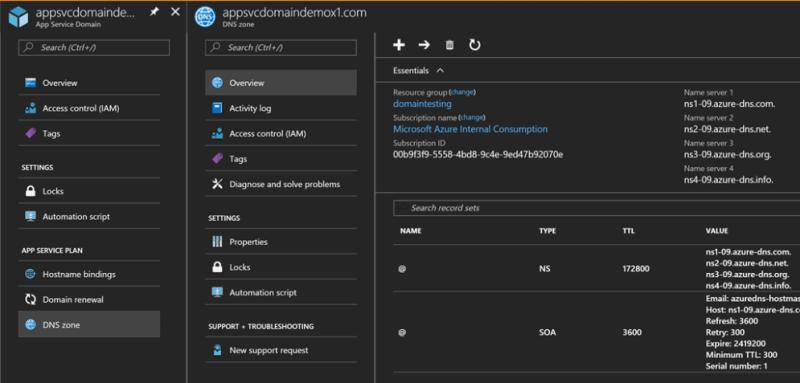 Microsoft Azure App Service domain