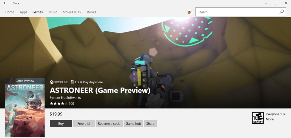 Video trailer in Windows Store