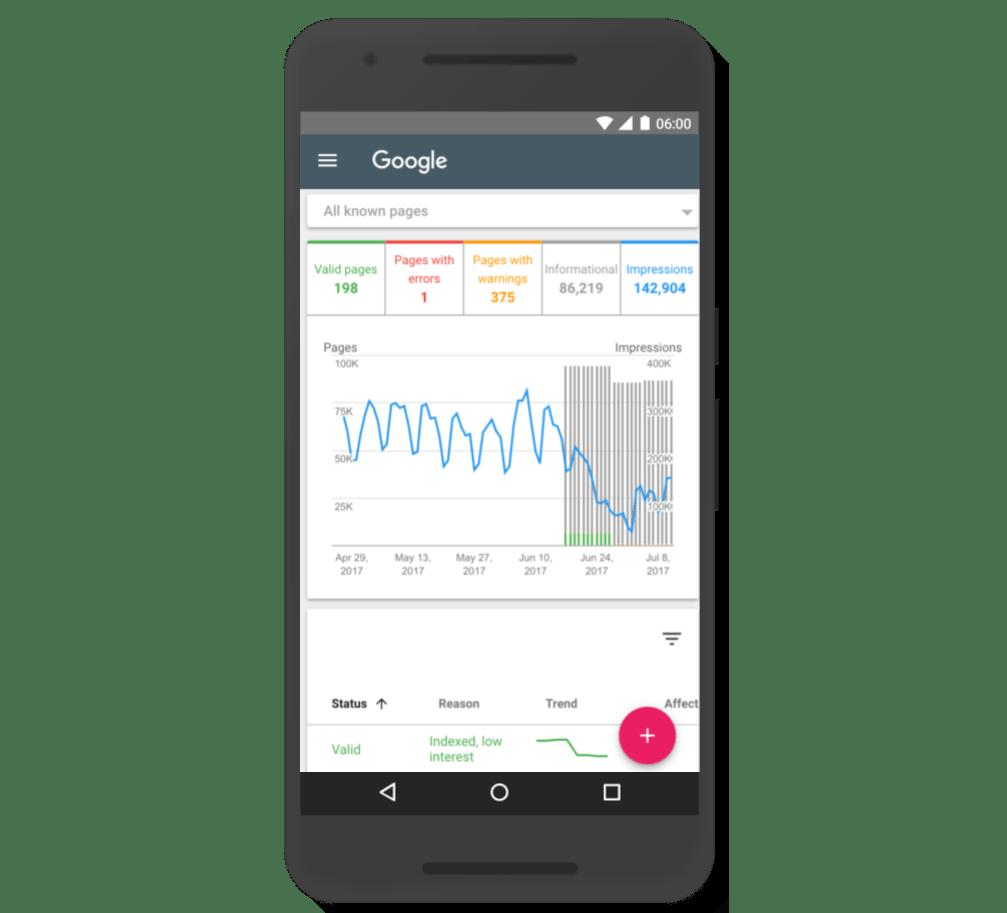 Google Search Conxole Index Coverage report