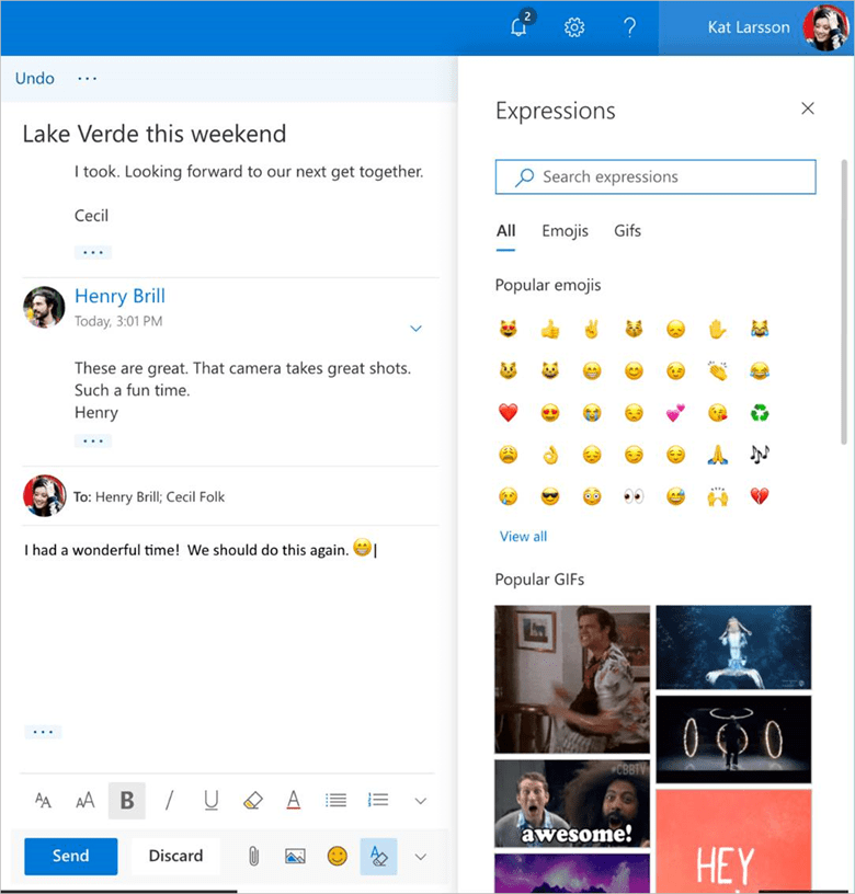 Outlook.com beta better personalization