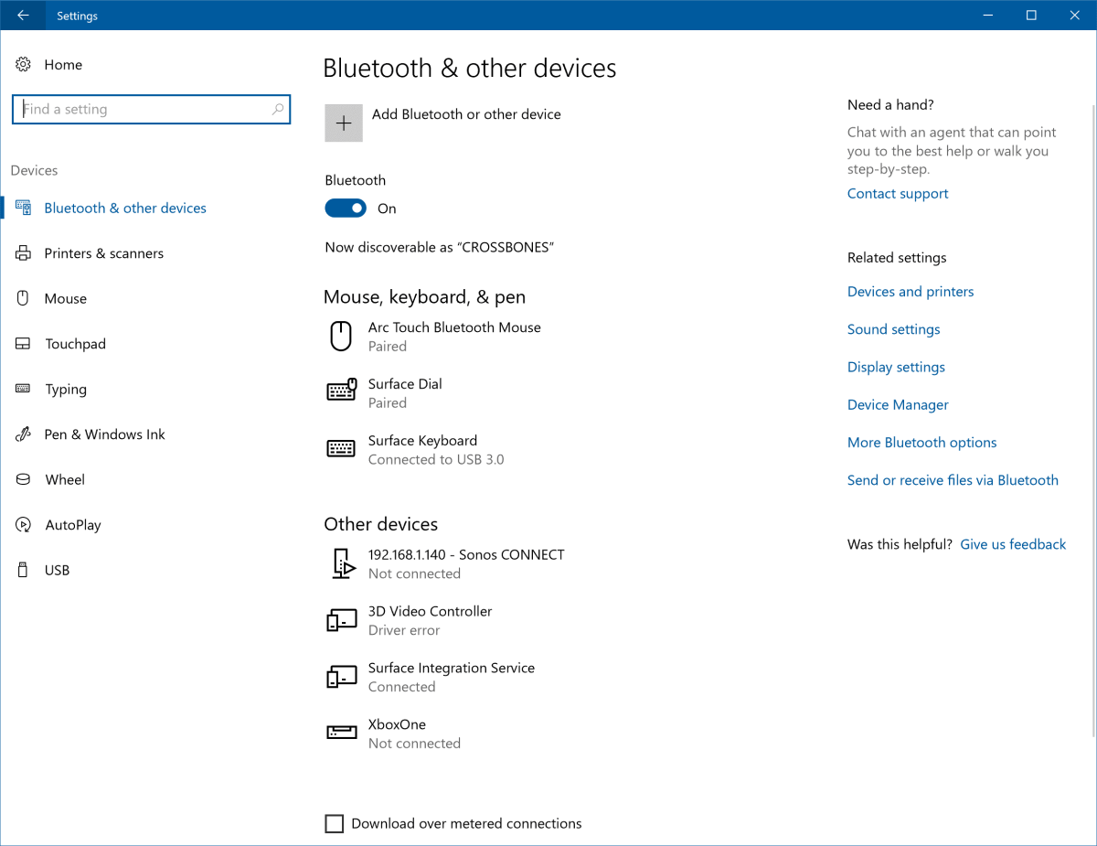 Bluetooth and Connected devices