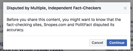 Facebook Disupted by Fact checkers