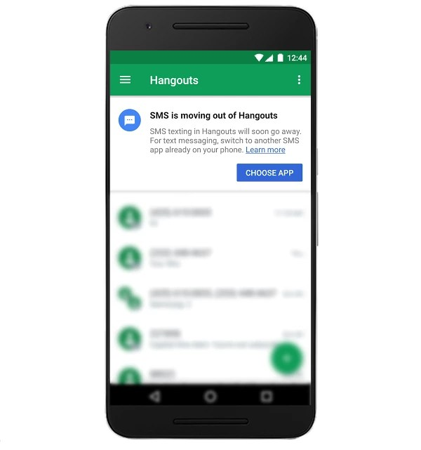 MS upgrading with Android Messages
