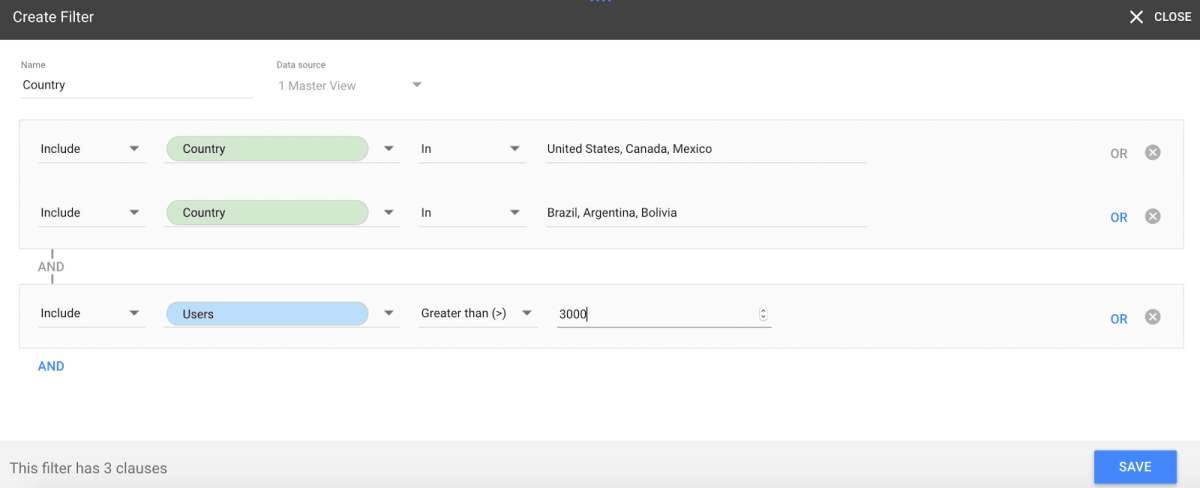 Google Data Studio New Filters UI