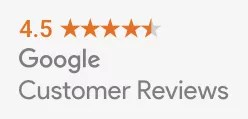 Google Customer Reviews Badge showing seller rating