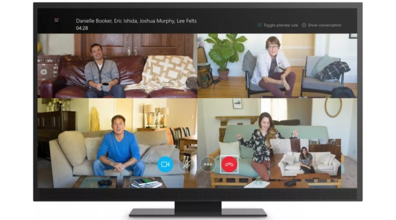 Xbox One Skype: Group video call