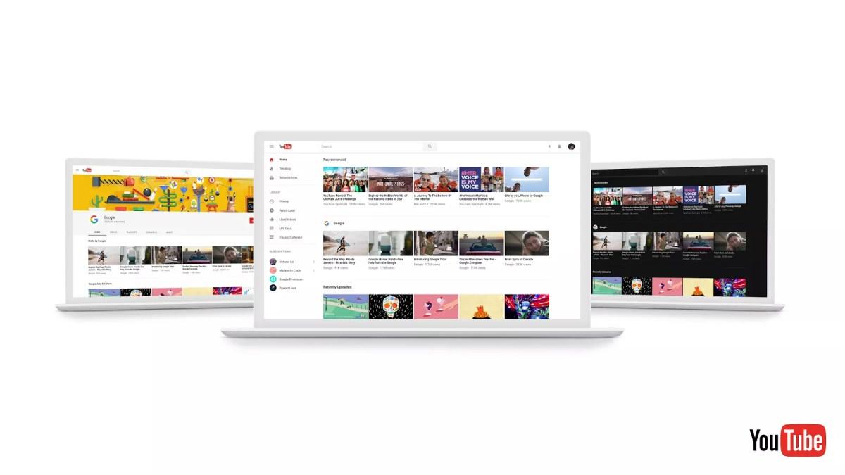 New Look YouTube Desktop Site