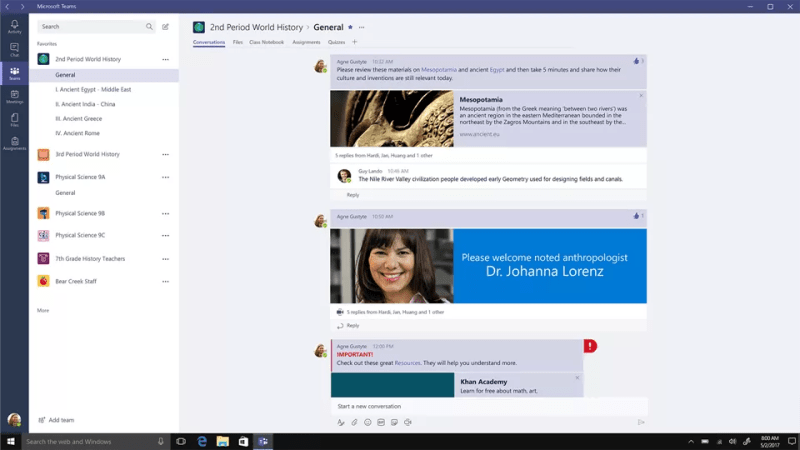 New Classroom in Microsoft Teams for Office 365 for Education