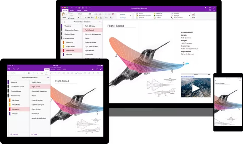 OneNote consistent experience across devices