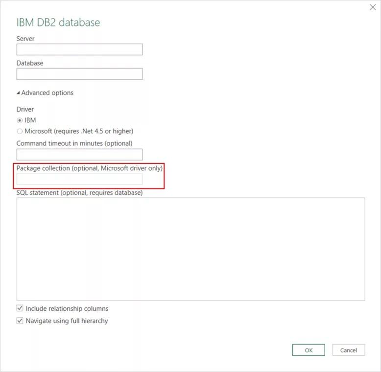 Excel 2016 DB2 connector