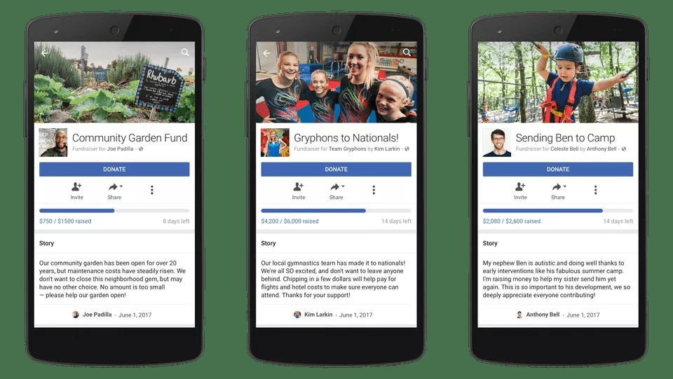 Facebook Fundraiser Categories Example