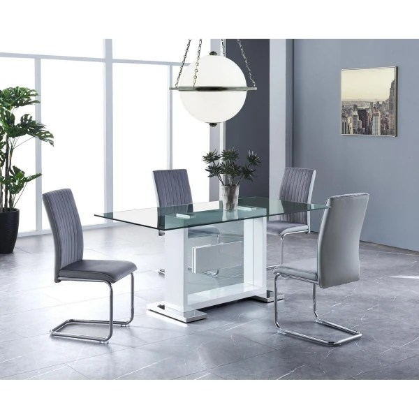 Jordan Set Of 4 Grey Dining Chairs Pier 1