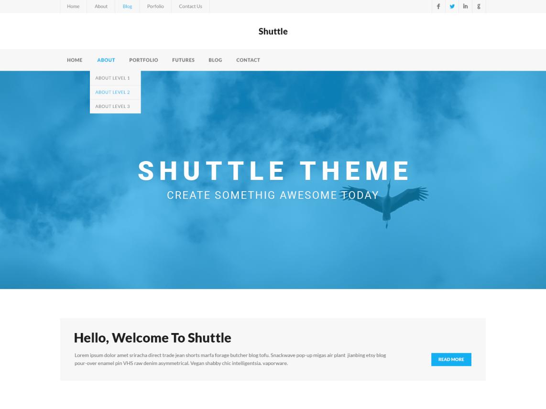 Shuttle iBusiness WordPress Theme