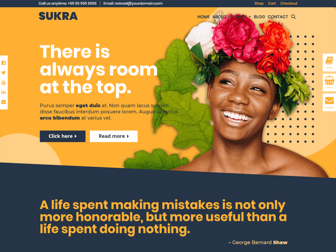 Sukra WordPress Theme