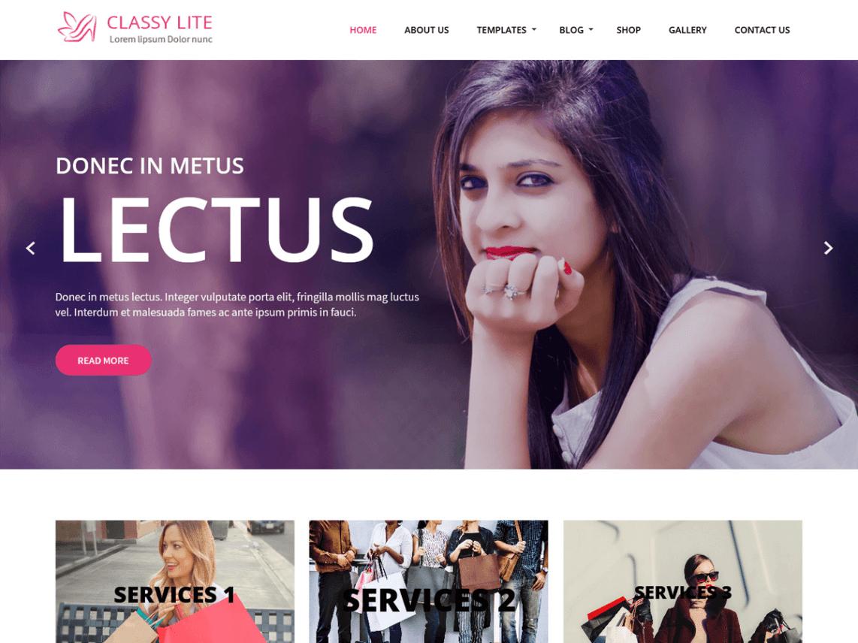 Classy Lite WordPress Theme