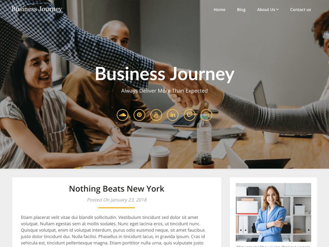 Business Blogily WordPress Theme