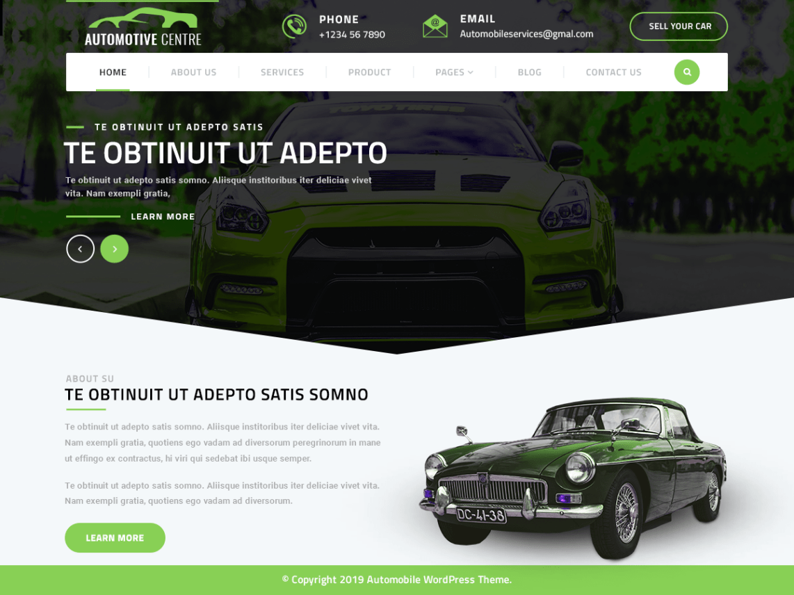Automotive Centre WordPress Theme