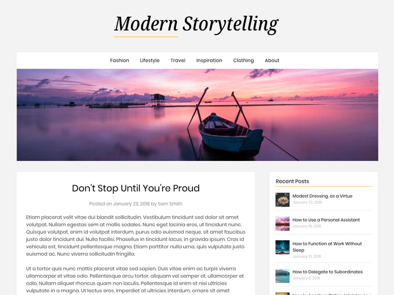 Modern Storytelling WordPress Theme