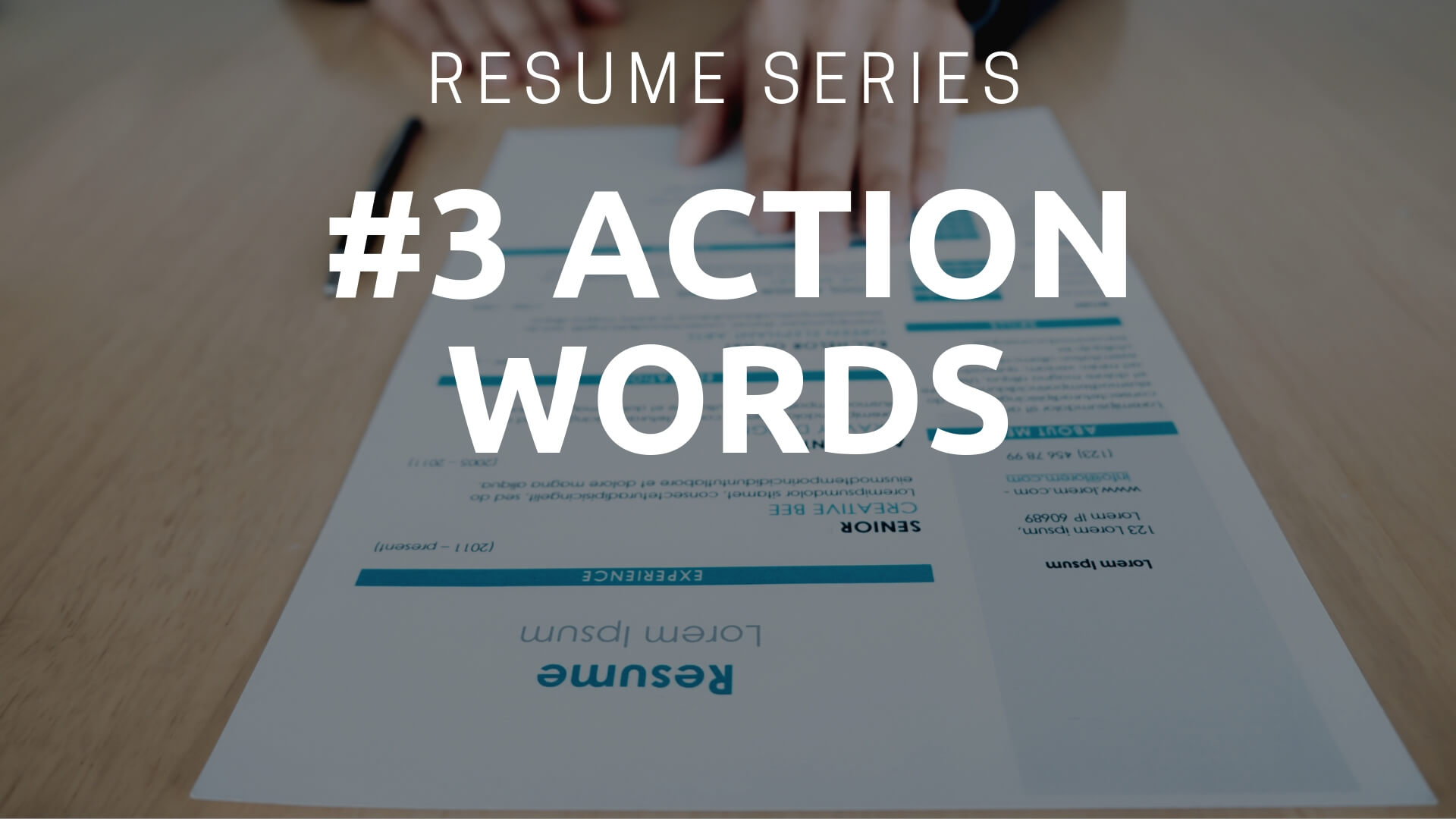 strong action words for resume