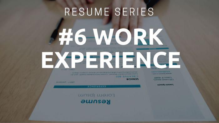 Resume Work Experience