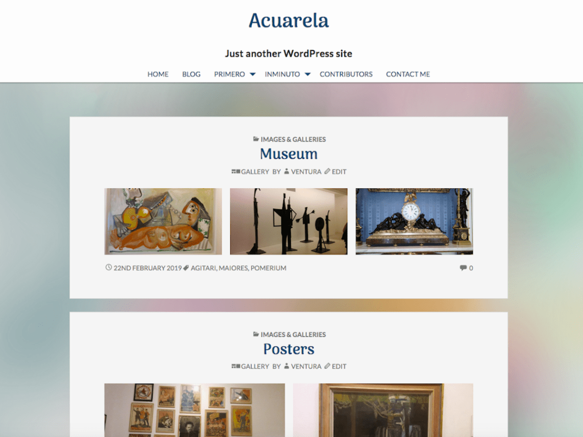 Acuarela WordPress Theme