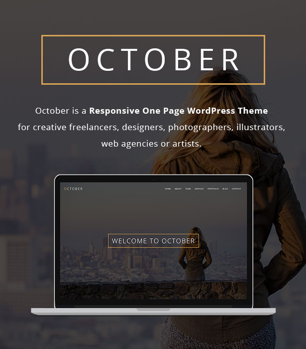 October - Responsive One Page WordPress Theme