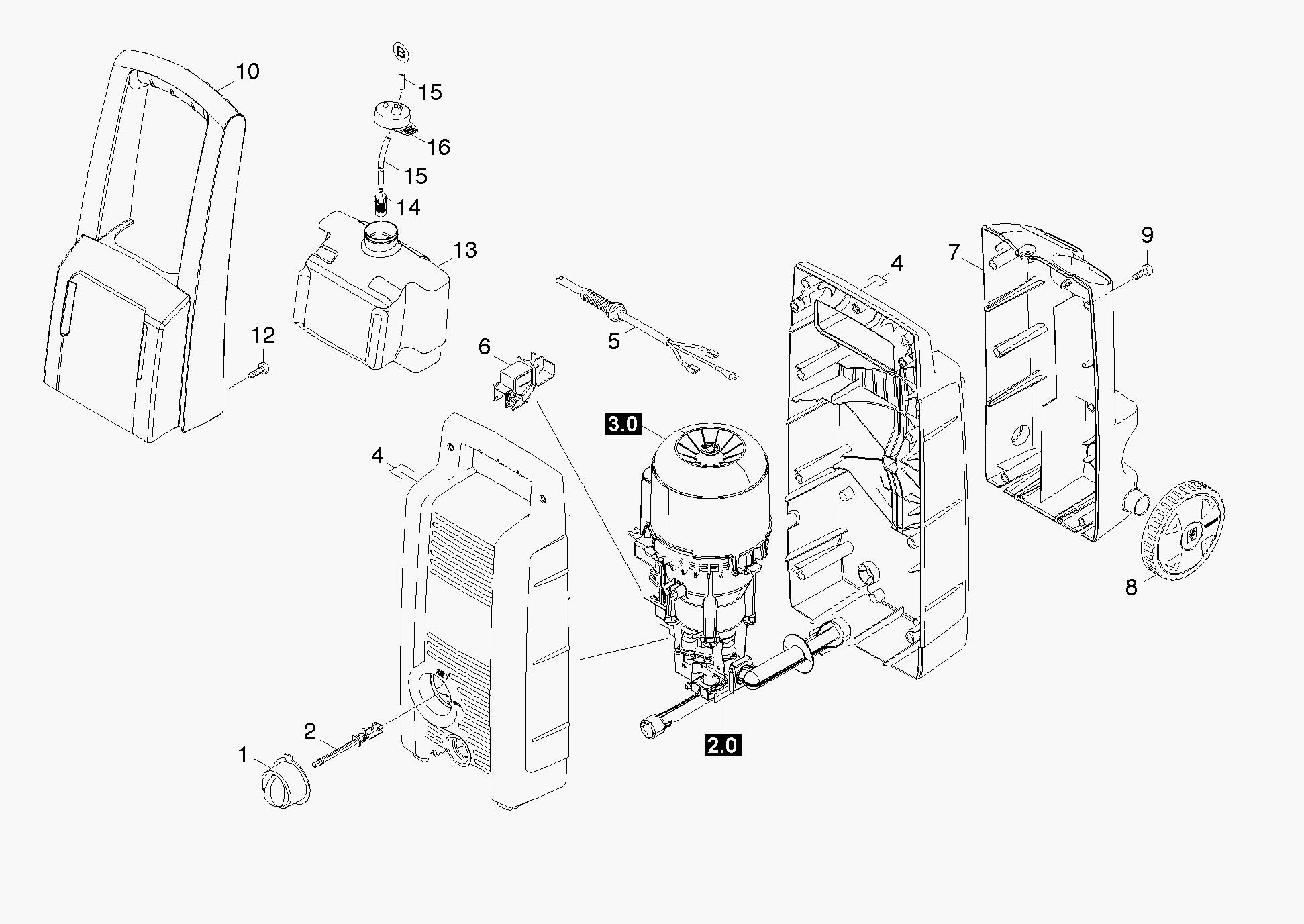 Karcher K2 Spare Parts Diagram