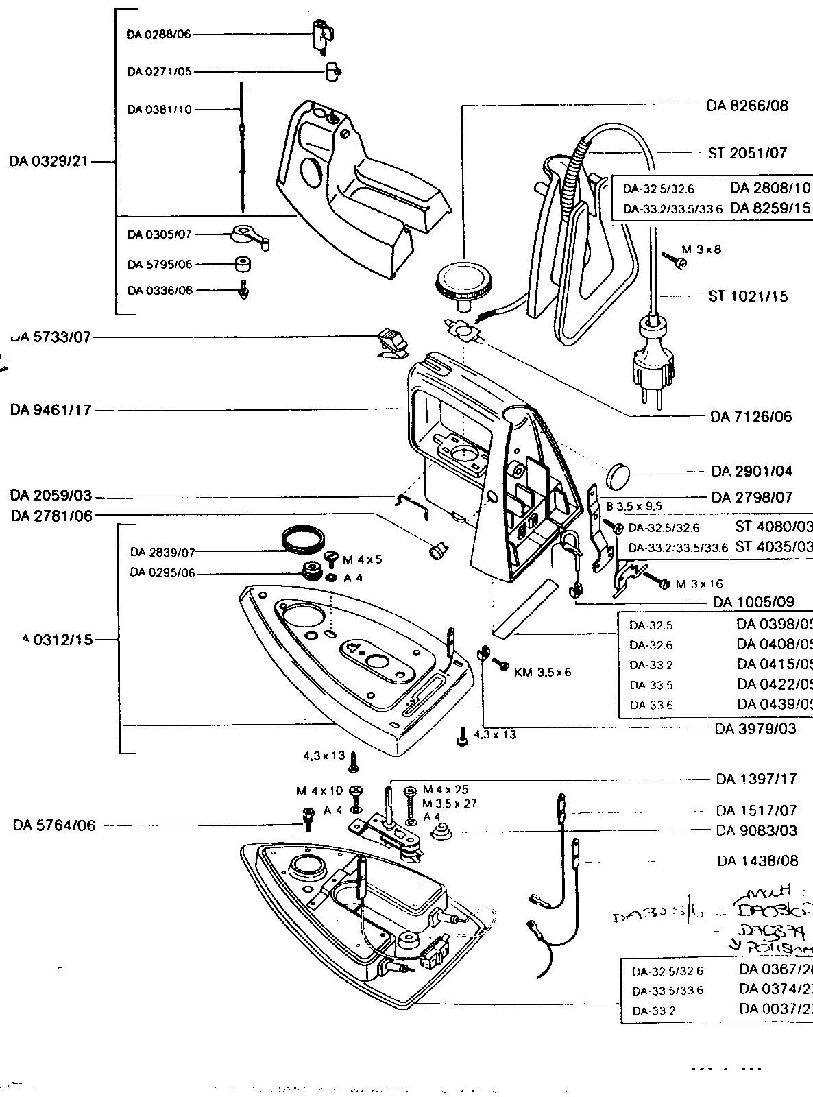 Rowenta Iron Parts Diagram
