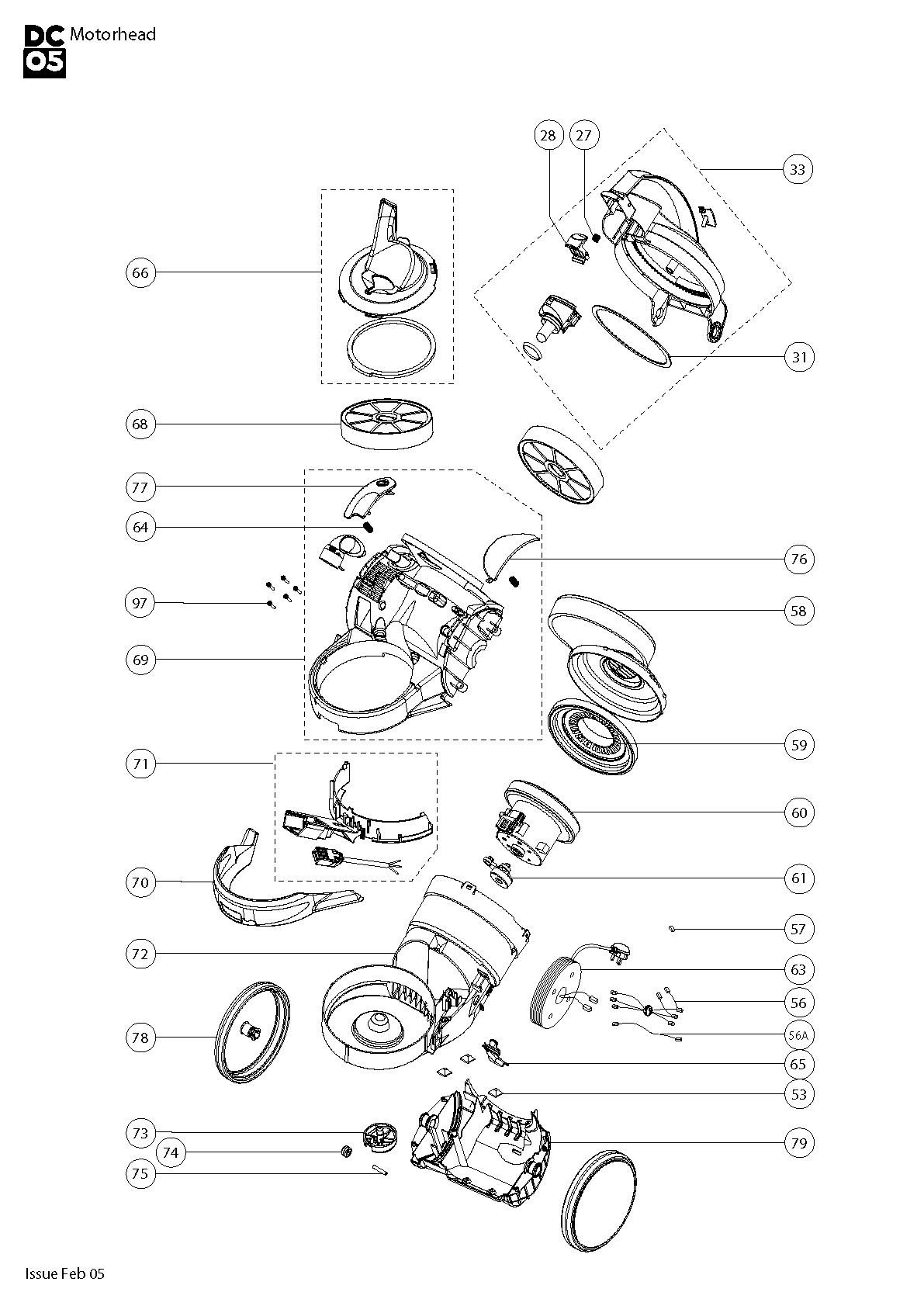 Dyson V6 Motorhead Parts List