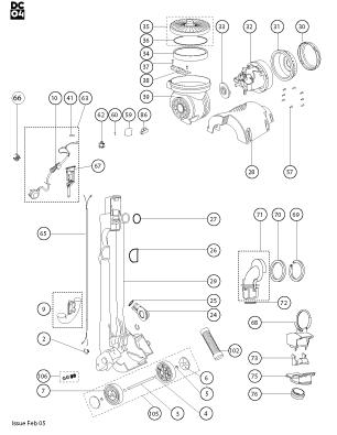 Dyson DC04 DeStijl (Red/Purple/Yellow) Vacuum Cleaner Parts