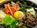 Korean delicacy, a largely vegetarian rice dish.
