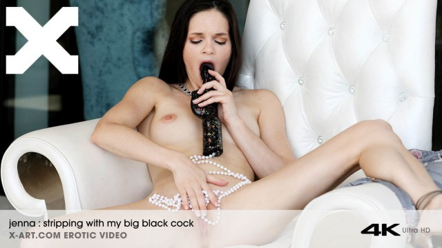 Jenna - Stripping With My Black Cock