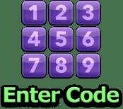右上に表示される「Enter Code」ボタン