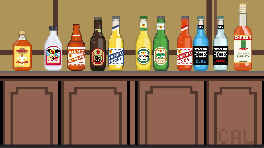 Filipino Alcoholic Beverages in Pixels by Sir_Caloy