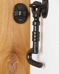 Black Sliding Barn Door Hook | Rustica Hardware