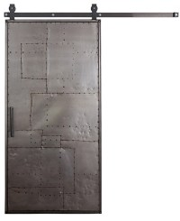 Mountain Scrap Metal Barn Door: Interior & Sliding ...