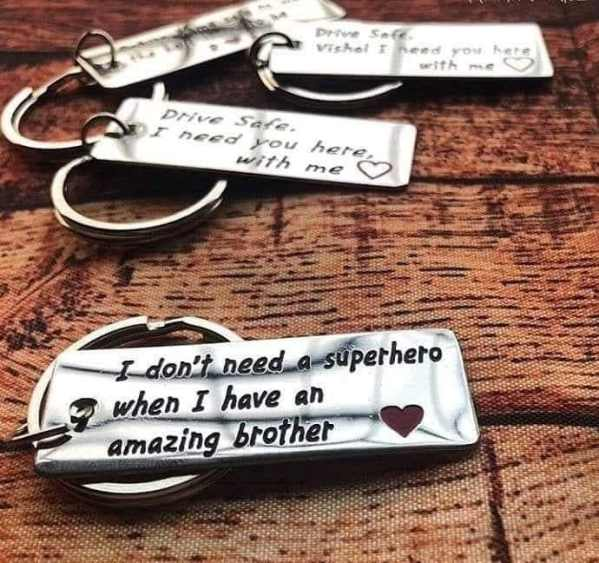 Customize Quote Metal Keychains