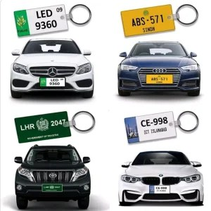 Customize number plate keychain
