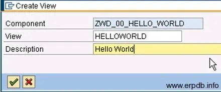 Creating Webdynpro App2