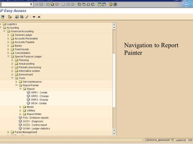 Navigation to report painter