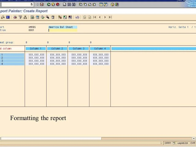 6. formatting the report