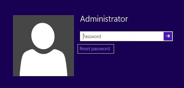 Click on reset password link