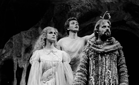 Anthony Hopkins and Stephanie Zimbalist in the 1979 Mark Taper Forum production of The Tempest.